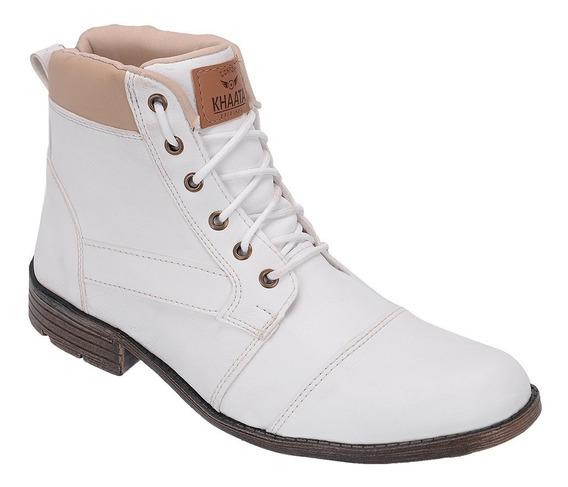 Sapato Botina Casual Masculino Khaata Leve C/ Ziper 103