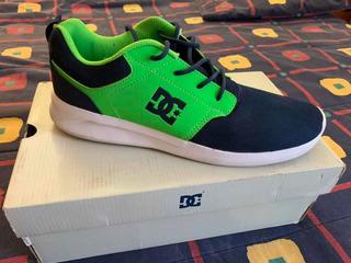 Tenis Dc Shoes Midway Azul Verde Shoeco Usa 28.5 Mx 10.5 Usa