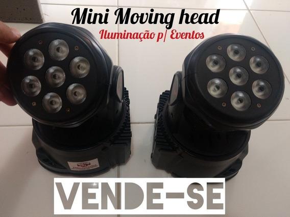 2 Mini Moving Head 7 Led De 12w