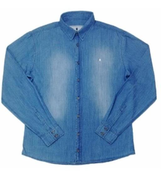 Camisa Social Ml Jeans Lifestyle Nevoeiro - M.pollo