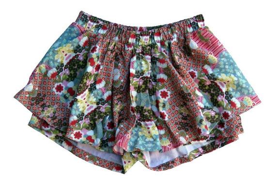 Short Saia Infantil Feminino Lului Bikinis