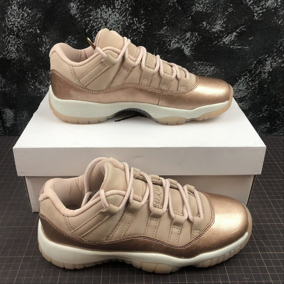 Zapatillas Nike Air Jordan 11 Rosa Gold