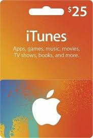 Tarjetas Itunes $25 De Apple Store Usa Itunes Gift Card