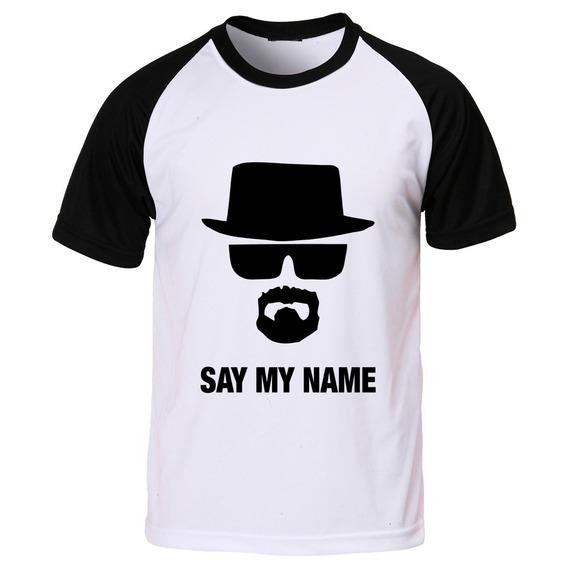 Camiseta Raglan Breaking Bad Say My Name Walter White