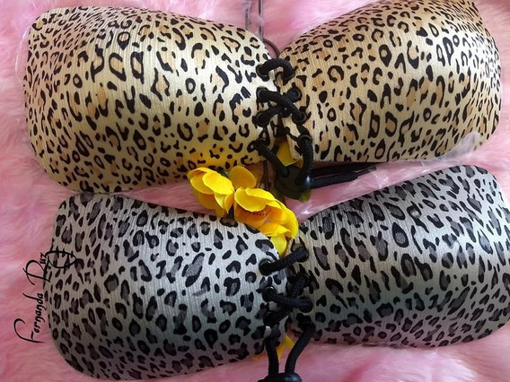 Invisible Bra Push Up Copas Autoadheribles Animal Print