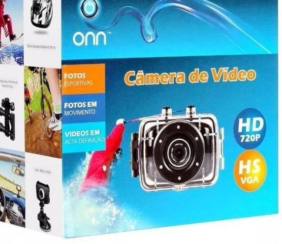 Câmera Filmadora De Ação Aventura Onn 5mp Hd Tela Touch