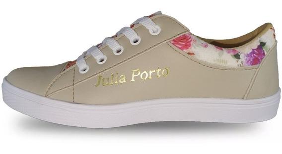 Tenis Feminino Julia Porto Floral Sapatênis Presente!