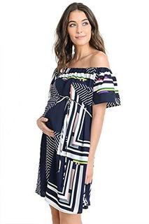 Hola Miz Off The Shoulder Baby Shower Vestido De Maternidad