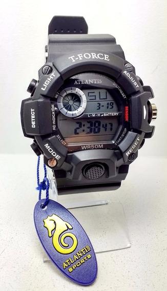 Relógio Masculino Atlantis Sports T-force G5517 Preto/branco
