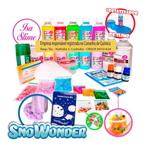 Kit Faça Seu Slime Completo (grande) Com Neve Instantânea