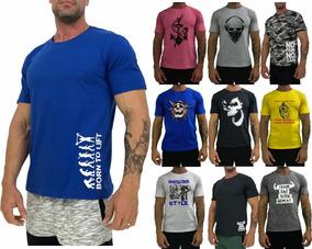 10 Camiseta Masculina T-shirt Camisa Blusa Treino Manga Curt