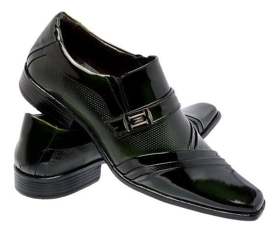 Sapato Social Diplomata Masculino Em Couro + Brinde