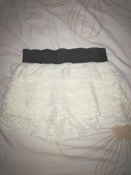 Falda/short Mujer Con Encaje