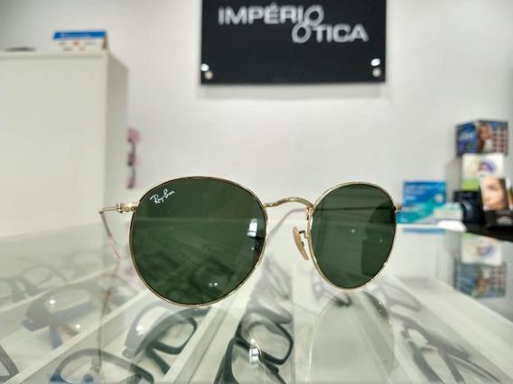 Oculos Solar Ray Ban Rb 3447l Round Metal 001 53 Original