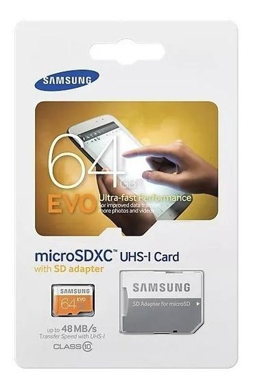 Cartão Memória Samsung Micro Sd Xc Pro 64gb