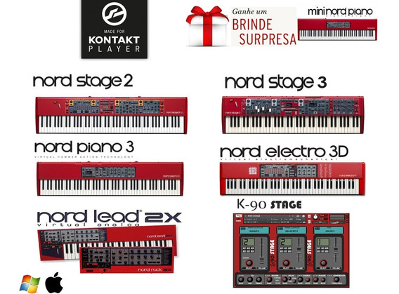 Nord Stage 2 + Nord Piano 3 + Nord Stage 3 + Electro 3d +k90