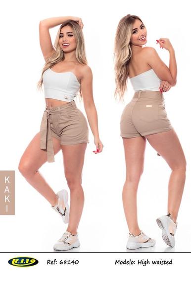 Shorts De Sarja Com Cinto Ri19 68140