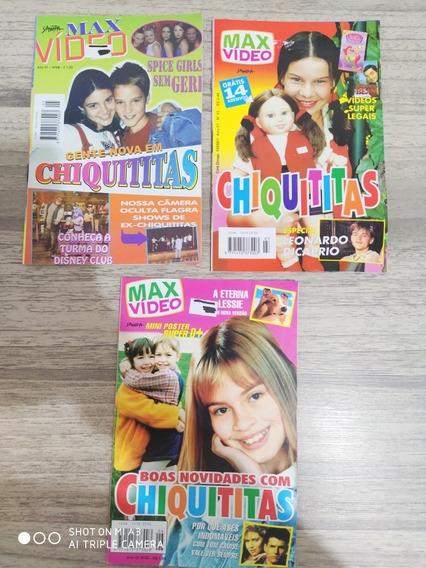 Revista Max Vídeo Chiquititas Ed: 03, 05 E 06