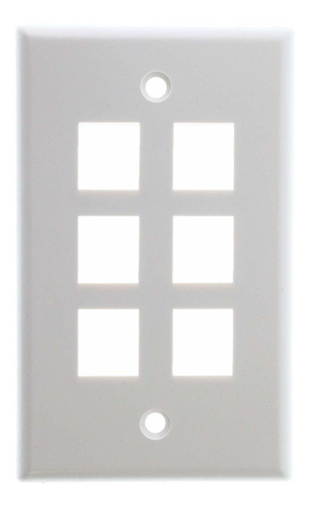 Icc Face-6-wh Ic107 f06wh- 6port Face Color Blanco