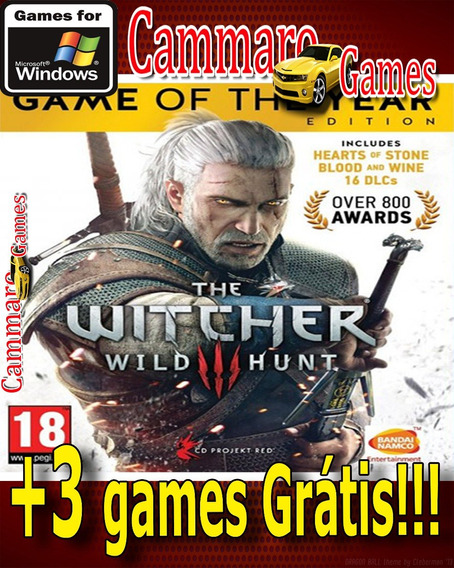 The Witcher 3:wild Hunt Game Of The Year Edition + 3 Games