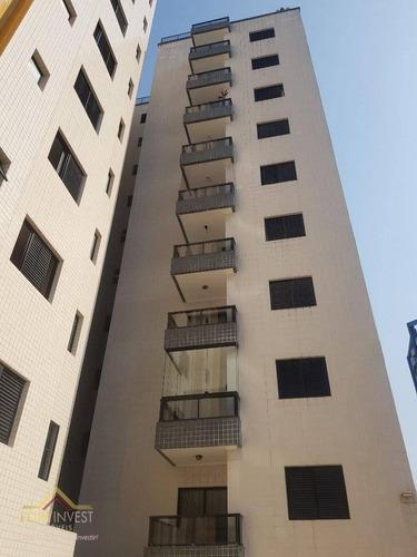 Imagem 1 de 24 de Apartamento Com 1 Dormitório À Venda, 46 M² Por R$ 175.000,00 - Aviação - Praia Grande/sp - Ap2802