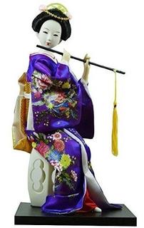 Tradicional Japonesa Hermosa Kimono Geisha / Maiko Doll / Re