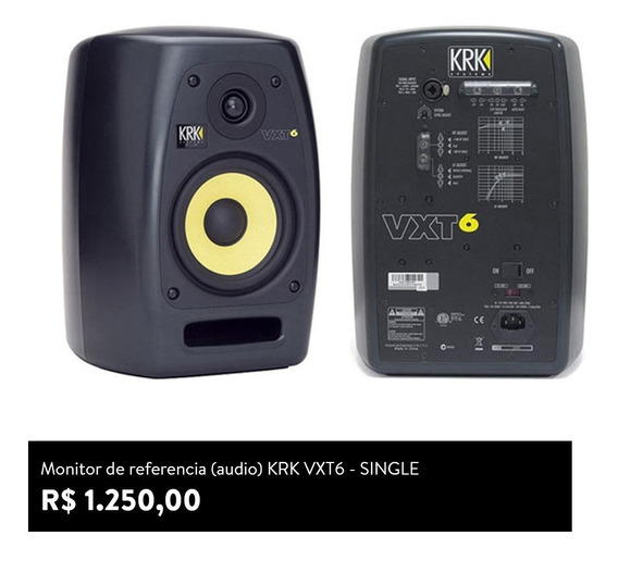 Monitor De Audio Krk Vxt-6 (single)