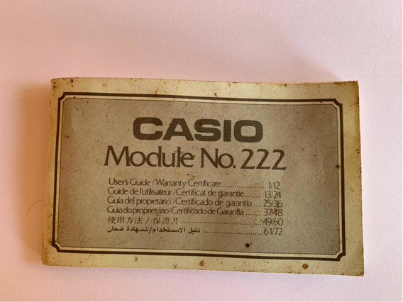 Manual (user Guide) Relógio Casio Game 30