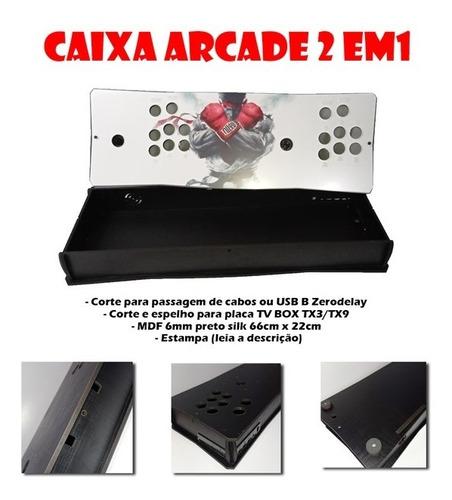 Imagem 1 de 8 de Caixa Arcade 3 Em 1 Box P281 (com Acrílico E Estampa)