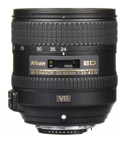 Lente Nikon Af-s Nikkor 24-85mm F/3.5-4.5g Ed Vr Com Estabilizador De Imagem Pronta Entrega- Frete Grátis-envio Imediato