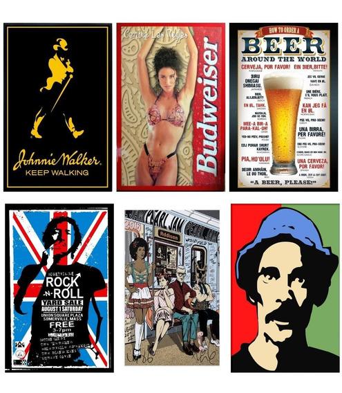Adesivos Artistas Cerveja Carro Retro Decoraçao Bar 5 Adesiv