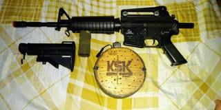 Rifle Aeg Airsoft Gf M4 6mm + Magazine Drum