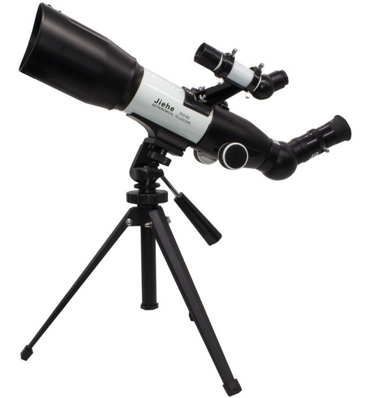 Telescopio Astronomico Terrestre Refrator Profissional Alumínio Aumento 350x Lente Vidro 60mm Inclui Lente Barlow K9 K25
