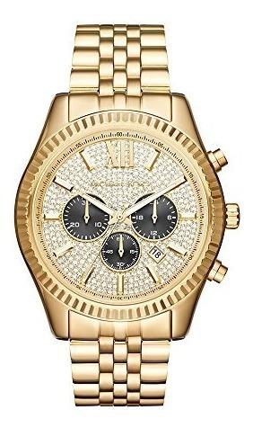 Michael Kors Lexington Reloj Mk8494 En Color Dorado Para Ho