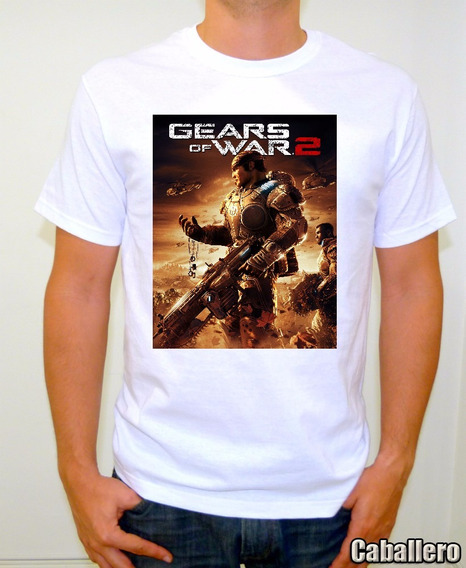 Gears Of War 2 Playera Gamer Alta Calidad Sublimada Xbox