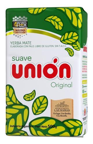 Yerba Mate Unión Con Palo 4flex 1/2 Kg