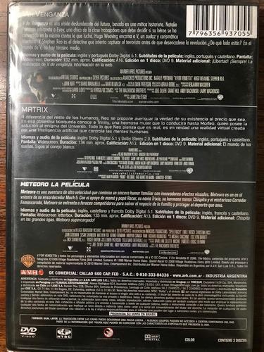Dvd V De Venganza V For Vendetta Meteoro The Matrix Mercado Libre