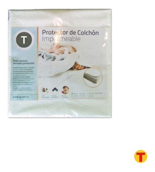 Cubre Colchon Protector Impermeable Toalla Y Pvc Cuna 120x60
