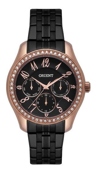 Relógio Orient Feminino Ftssm048 P2px Rose Preto Multifunção