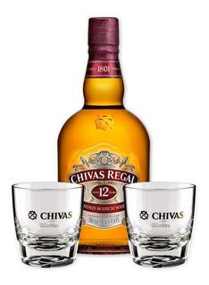Whisky Chivas Regal 12 Años 1 Litro + 2 Vasos