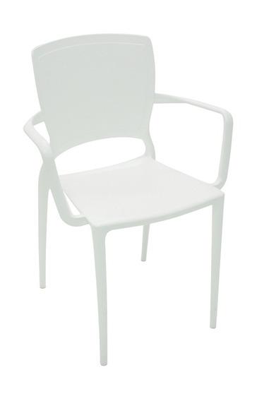 Cadeira Com Bracos Sofia Fechada Branco