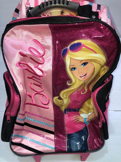 Mochila C/carro Barbie Original . Oferta!!!duendesyprincesas