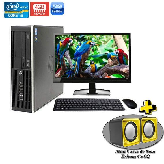 Computador Completo Hp 8200 Sff Core I3 4gb Hd 250gb + Wi-fi