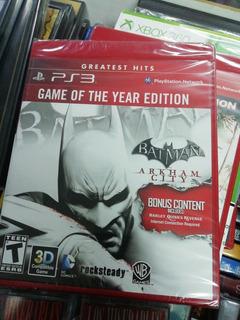 Juego Físico Ps3 Nuevo Y Sellado Batman