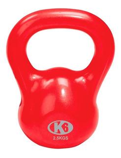 Kettlebell Pesa Rusa Hierro Y Pvc 2.5 Kg 5.51lbs K6 Fitness