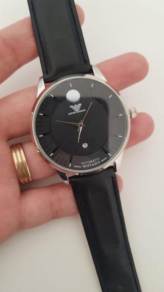 Relógio Armani Pulseira De Couro