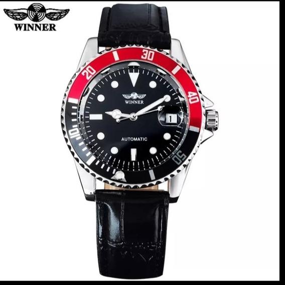 Relógio Masculino Semi Automático Luxo Winner Barato C.97