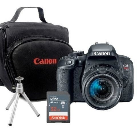 Canon T7i + 18-55mm + Bolsa + Cartão 32g + Tripé