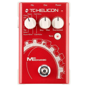 Pedal De Voz Tc-helicon Mic Mechanic Reverb/delay + Nf!