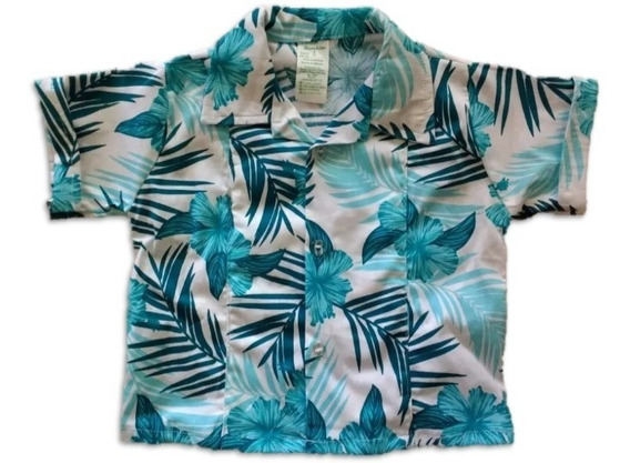 Camisa Hawaiana Para Niño Tallas 6 Meses, 1, 2, 3 Y 4 Años